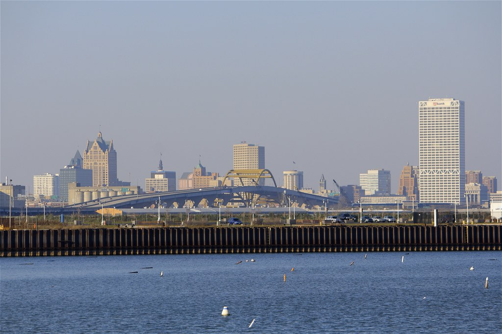 Hoan Bridge And Downtown Milwaukee From South Shore Yacht