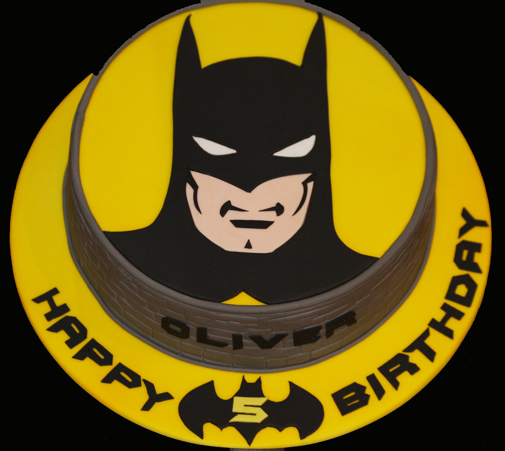 Batman Cake  10 Chocolate sponge with handcut image of