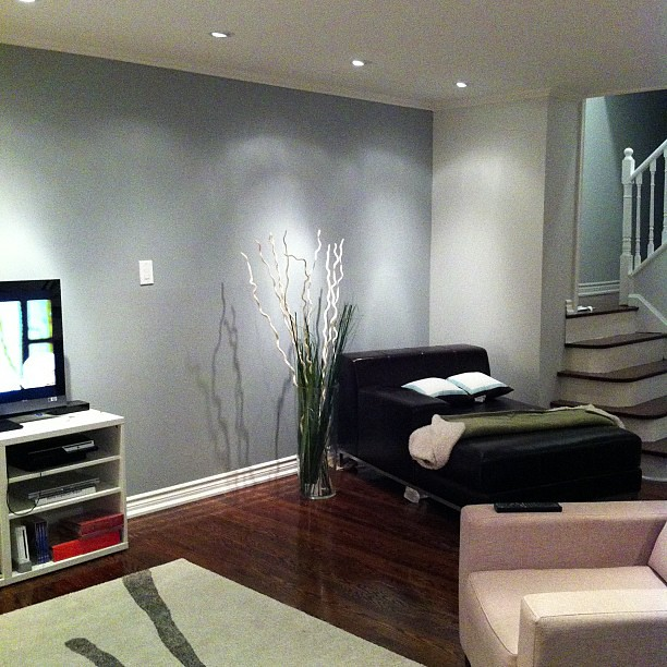 Living Room Take 3 Feature Wall Redone Darker Pots Angle