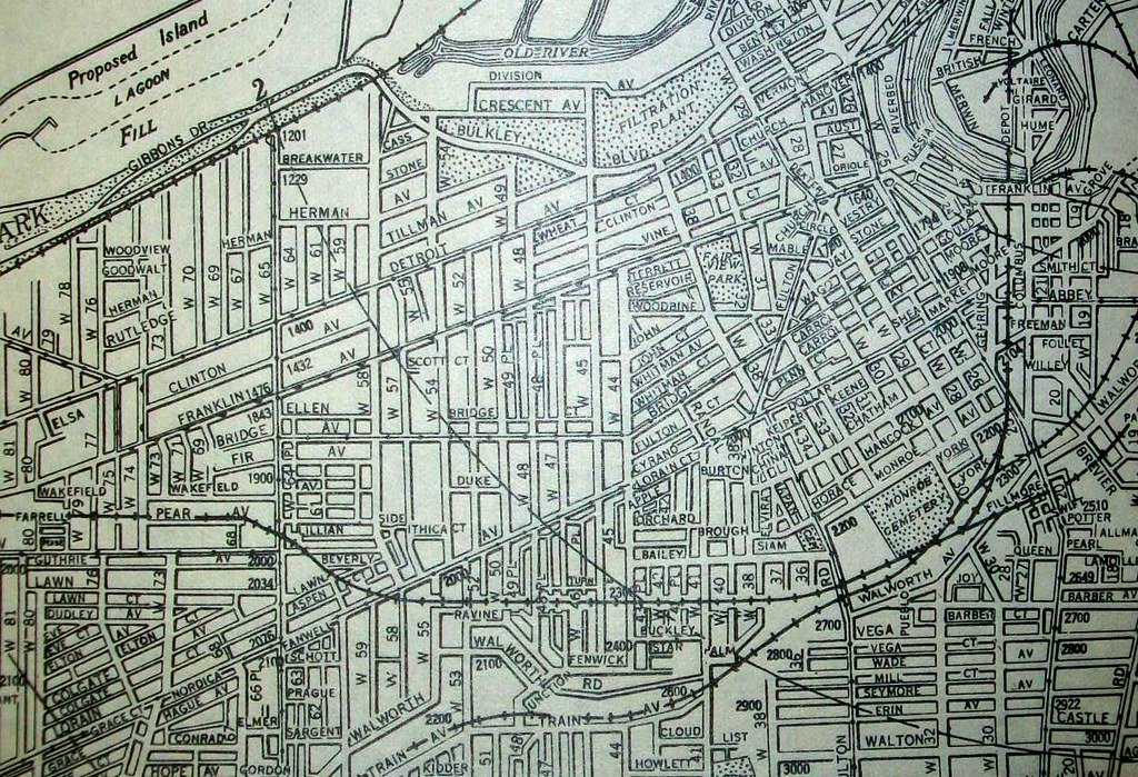 Cleveland OH 1930 Map By The Cleveland Directory Company