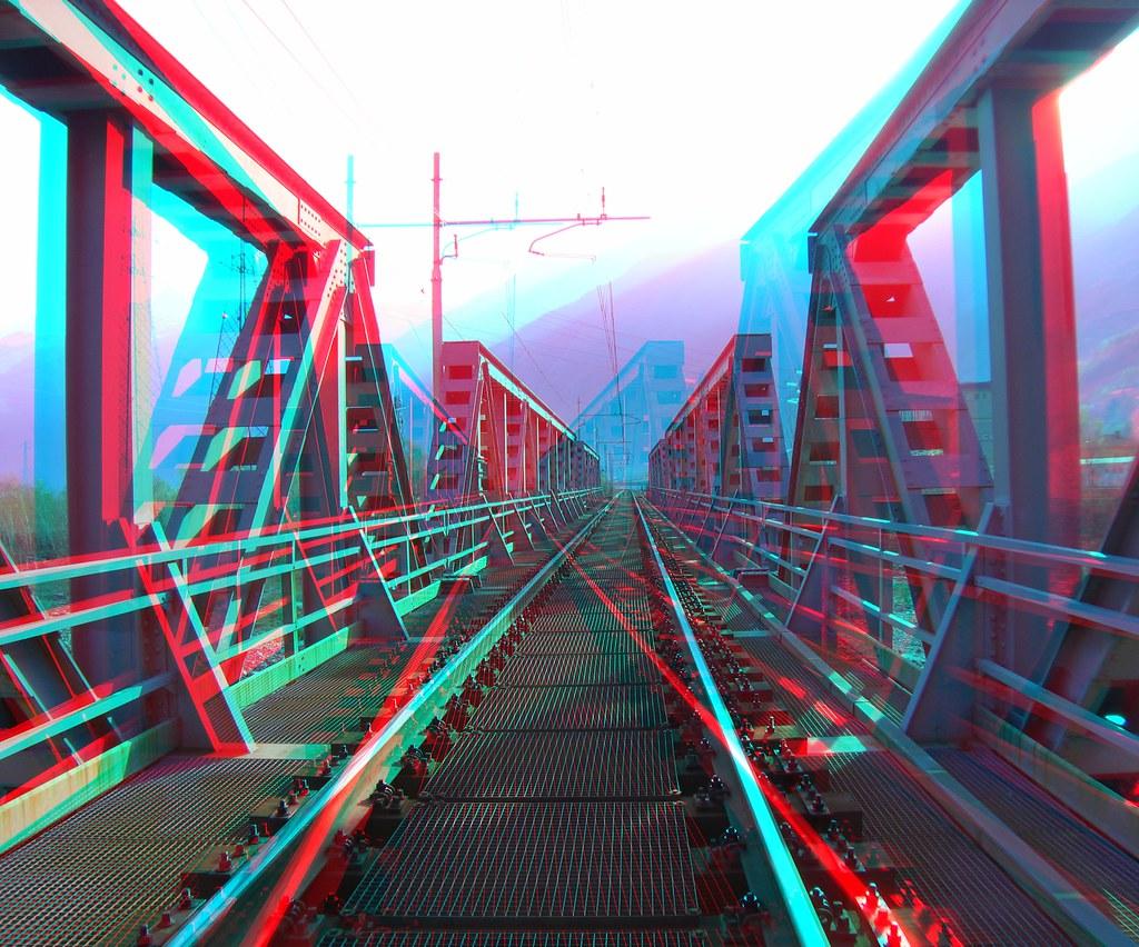 Ponte di ferro ferrovia Piedimulera _ 3D Anaglifo  Flickr