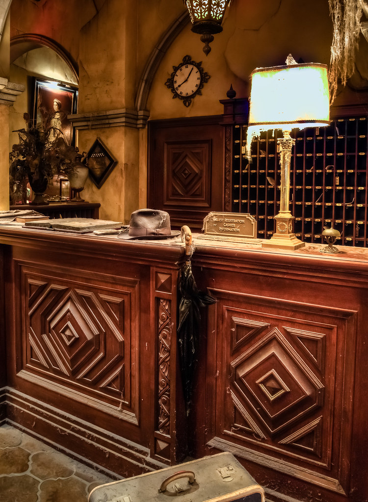 Tower Of Terror Front Desk Disneyland The Tower Of