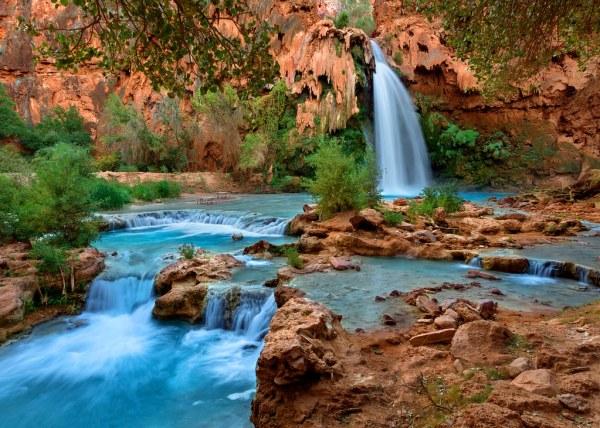 havasu falls landscape supai