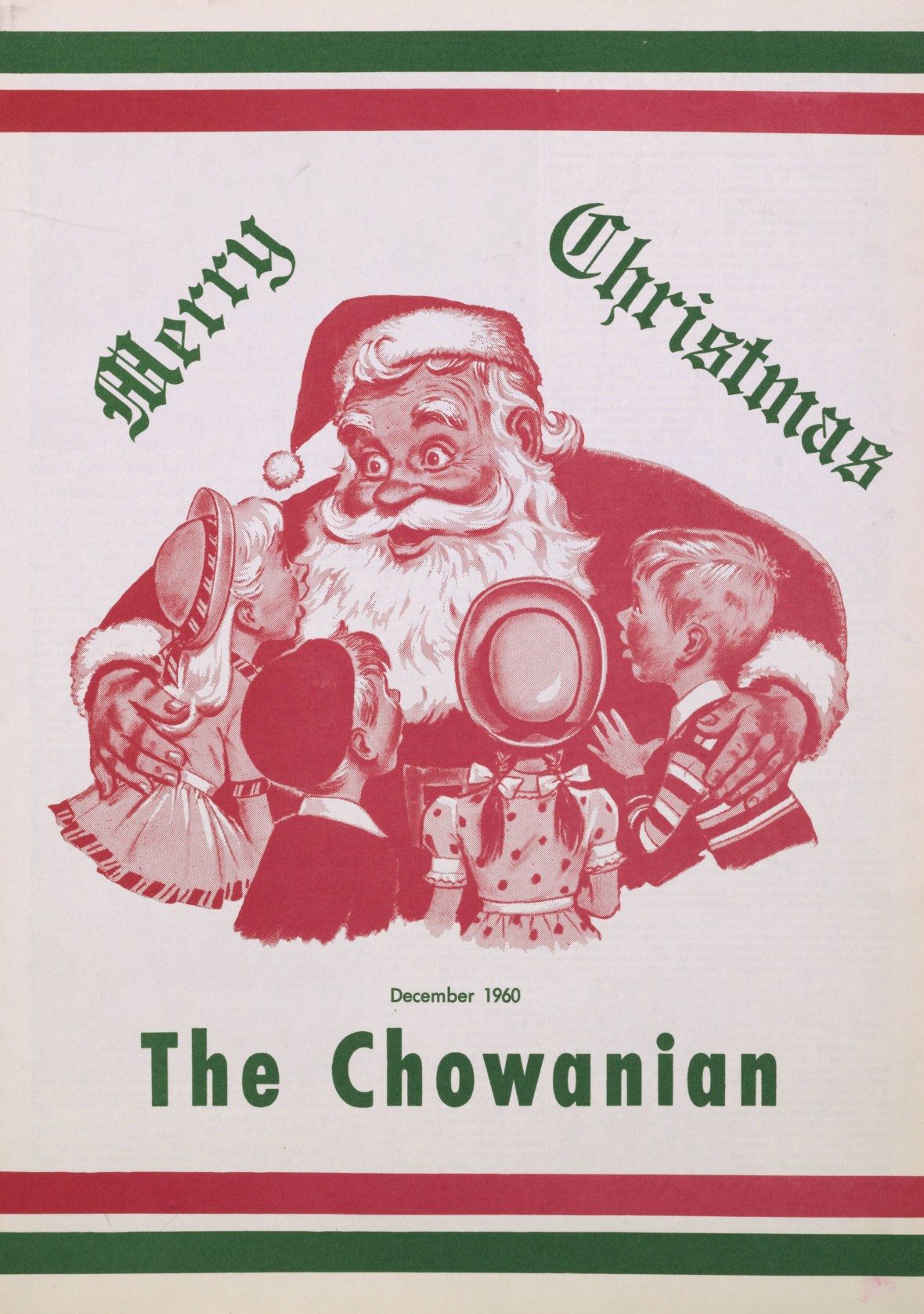 The Chowanian front page - Chowan College student newspaper - Murfreesboro, North Carolina U.S.A. - December 1960