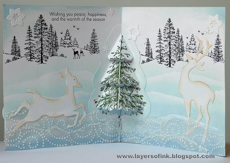Winter Scene Pop Up Tutorial Today I Am Sharing A Step