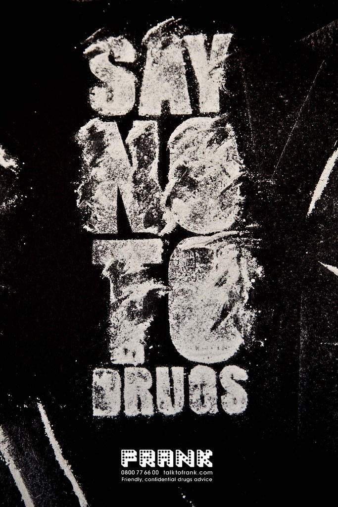 frank Say no to drugs  i cut out a stencil at first then