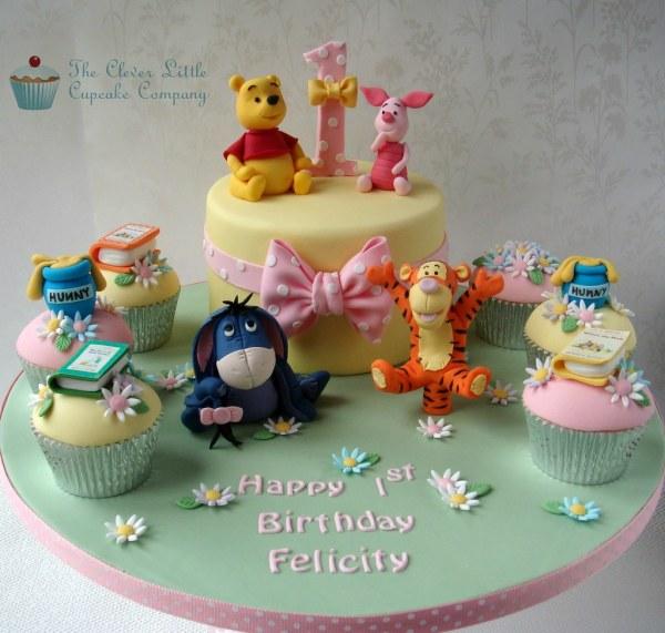 Winnie Pooh And Friends 1st Birthday Cake