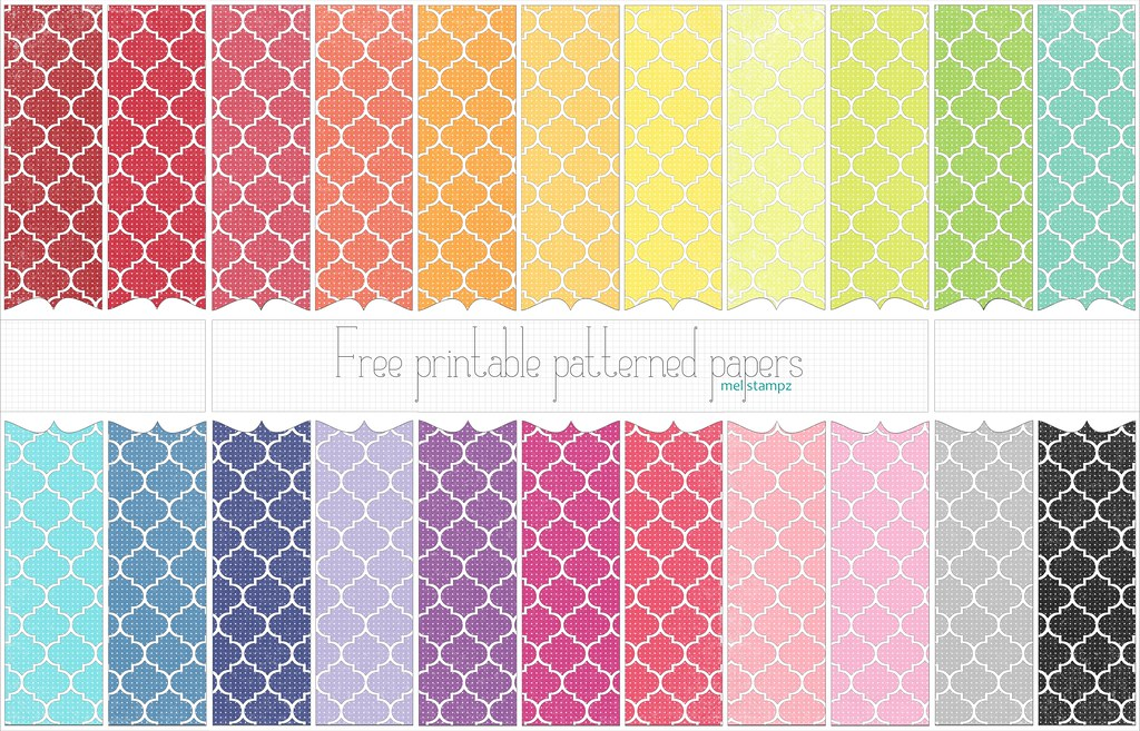 Dotted Moroccan tile  free printable digital patterned pa