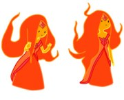 flame princess with hair