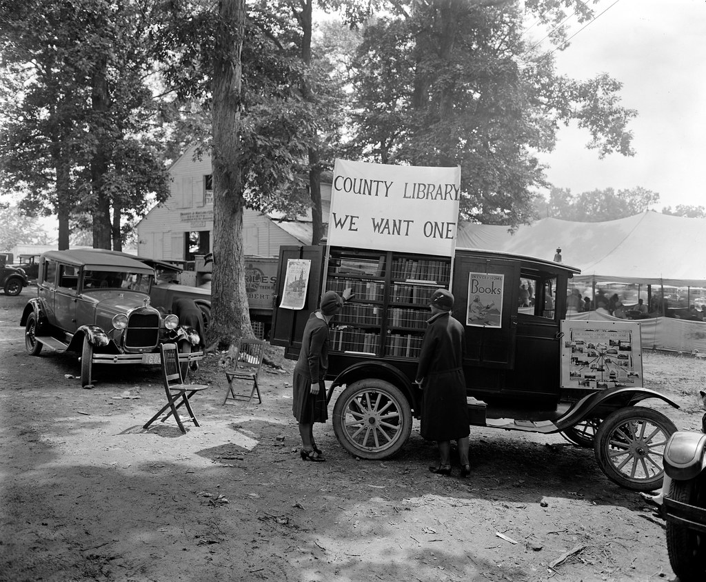 County Library, We want One -- Rockville Fair, Maryland, 1928.