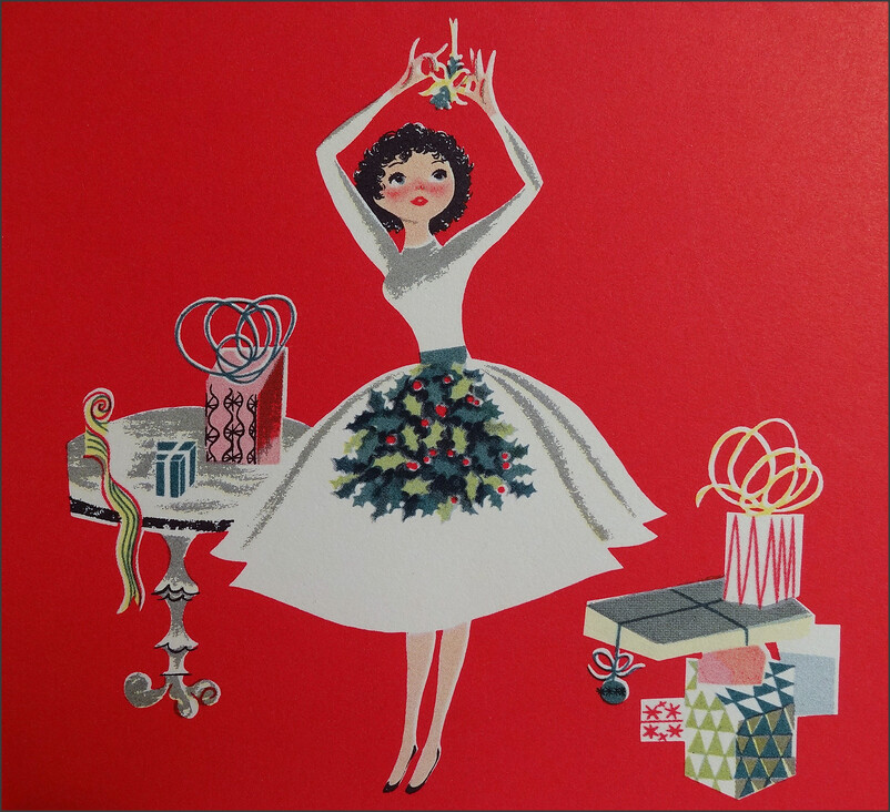 1950s Christmas Card Hallmark 1950sUnlimited Flickr