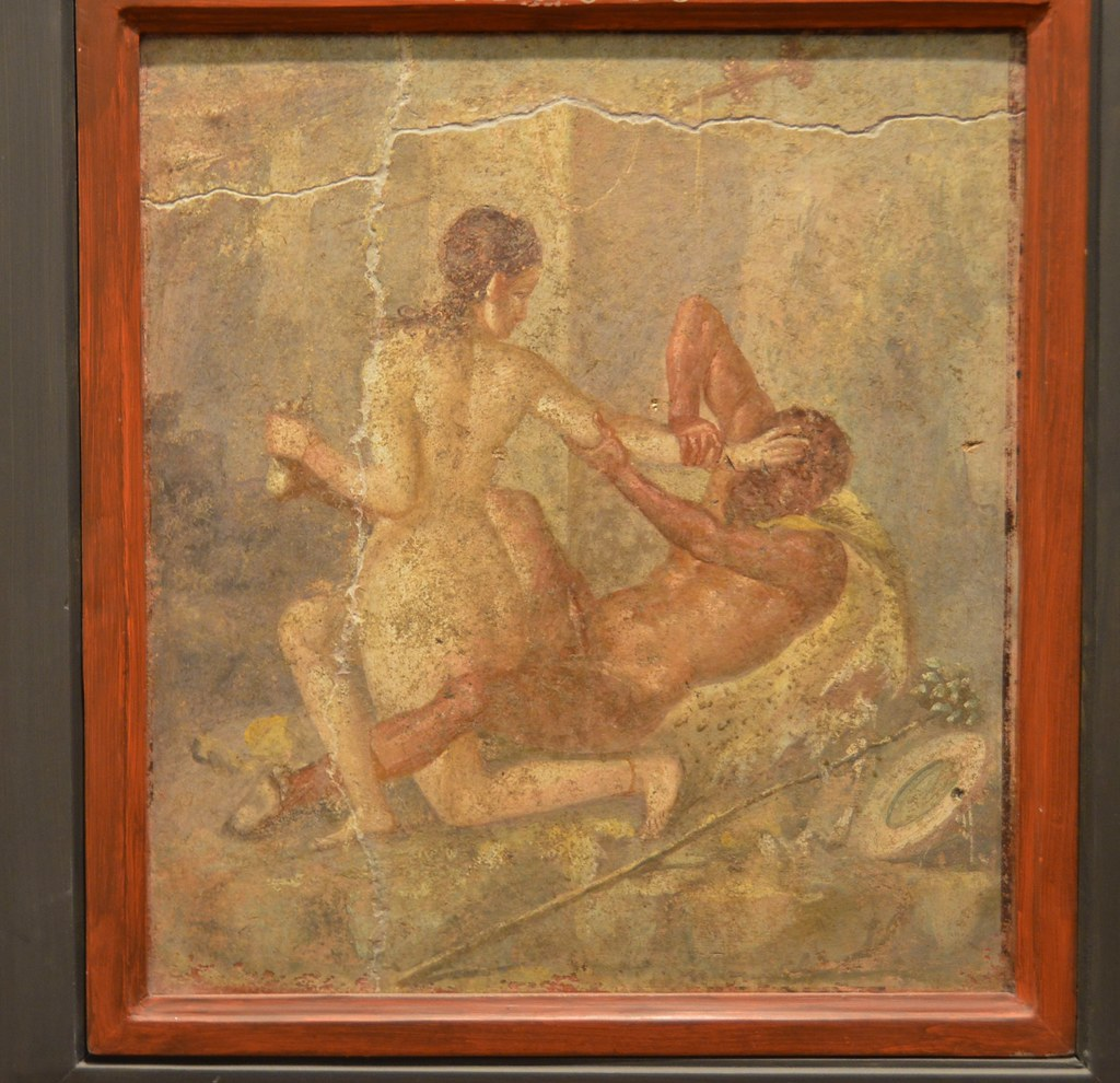 Secret Cabinet Naples Archeological Museum painting with