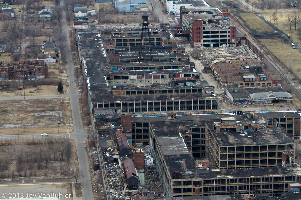Detroit from the Air  Packard Plant  Joy VanBuhler  Flickr
