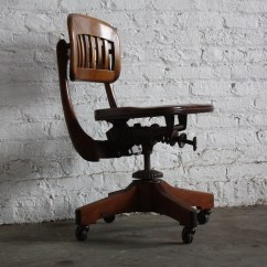 Sikes Chair Company Design Multifunctional Stunning Vintage Scuplted Walnut Industrial Swivel O…   Flickr