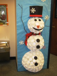 Styrofoam Cup Snowman | Grayslake Library | Flickr