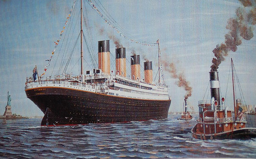 RMS Titanic Arrives New York April 17 1912  Mike Choi