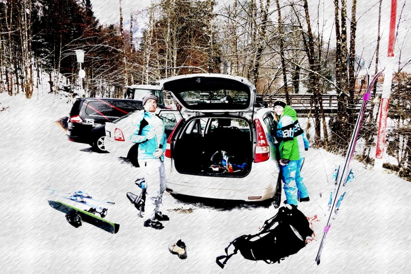Nové lyže nový split, hurá do hor budem fit!