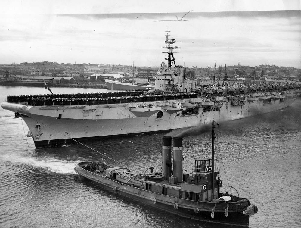 May 12 1949 the RANs first modern carrier at Fremantle