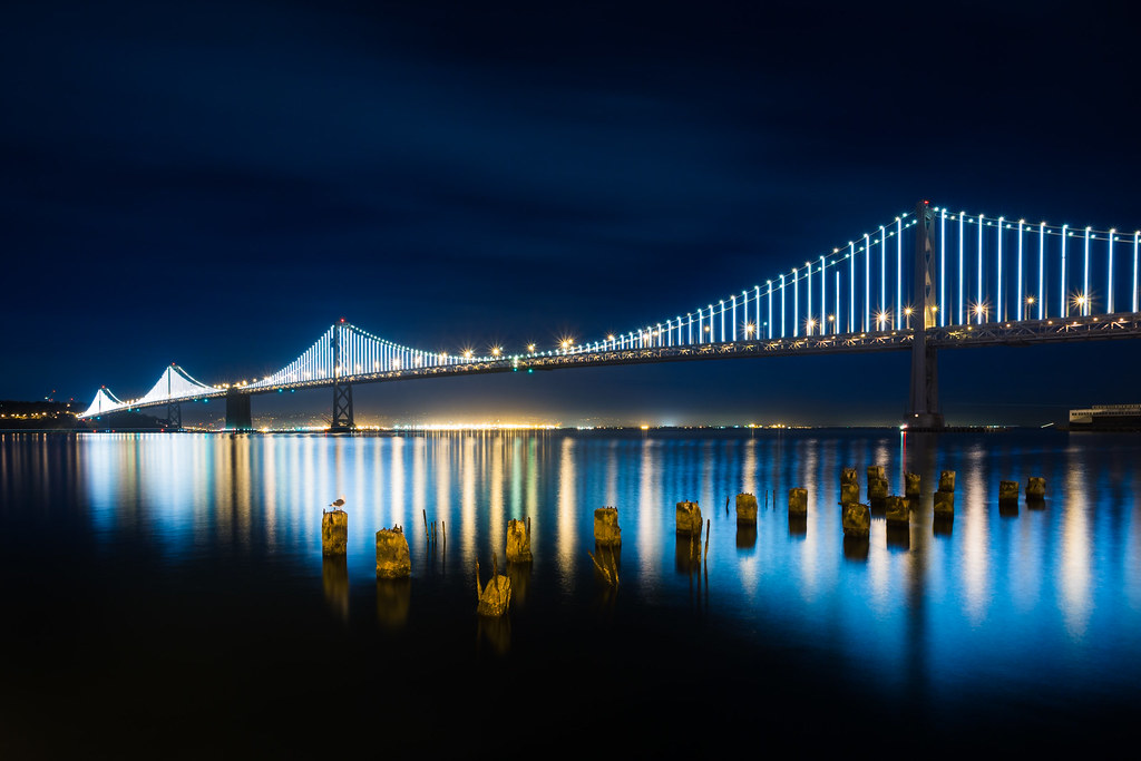 Panoramic Wallpaper Fall Bay Bridge Lights The Bay Bridge Is Celebrating Their