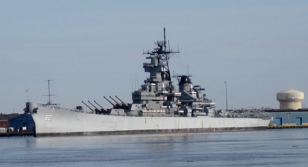 USS New Jersey BB62  USS New Jersey BB62 in Camden
