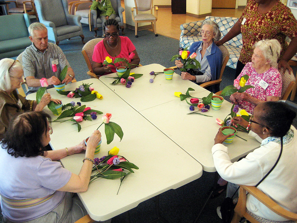 Flower Craft  Adult Day Health Care focuses on small specia  Flickr
