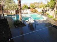 Salt Finish Pool Deck | Complete backyard concrete removal ...