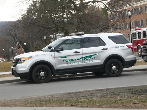 Dartmouth College Safety and Security Ford Explorer Polic