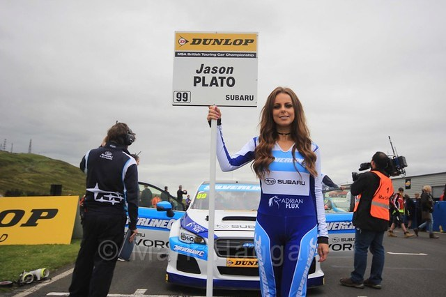 On the grid during the BTCC Knockhill Weekend 2016