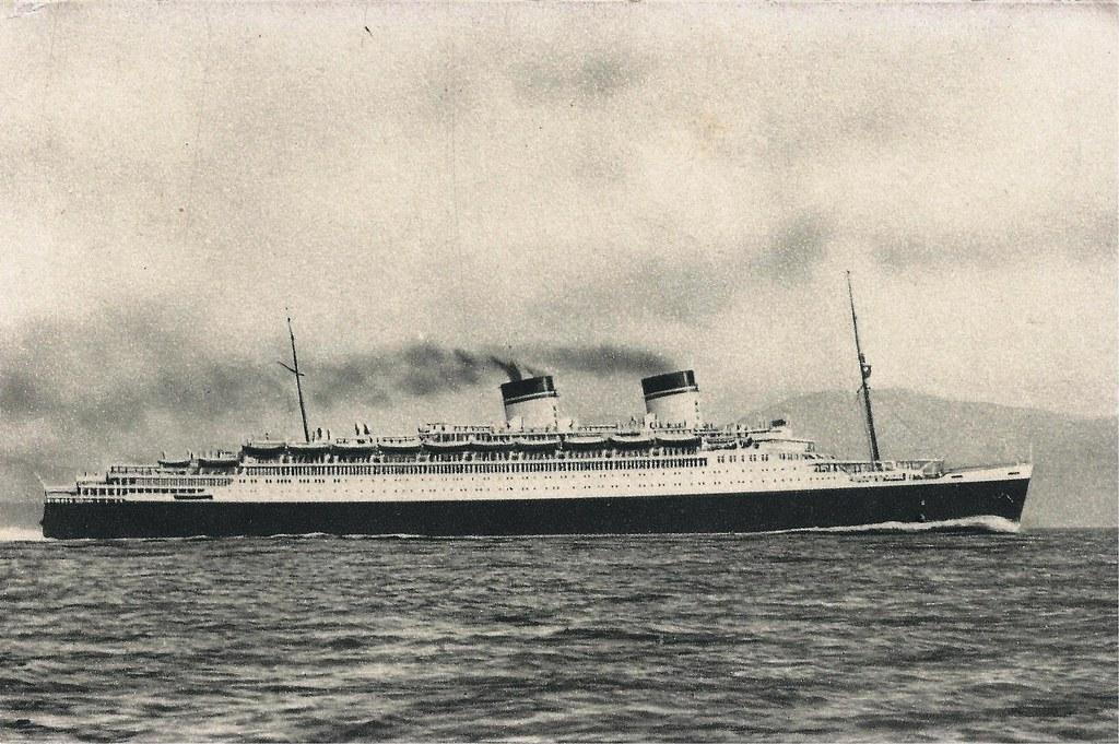 Ocean Liner Conte Di Savoia Italian Line Flotte Riunit
