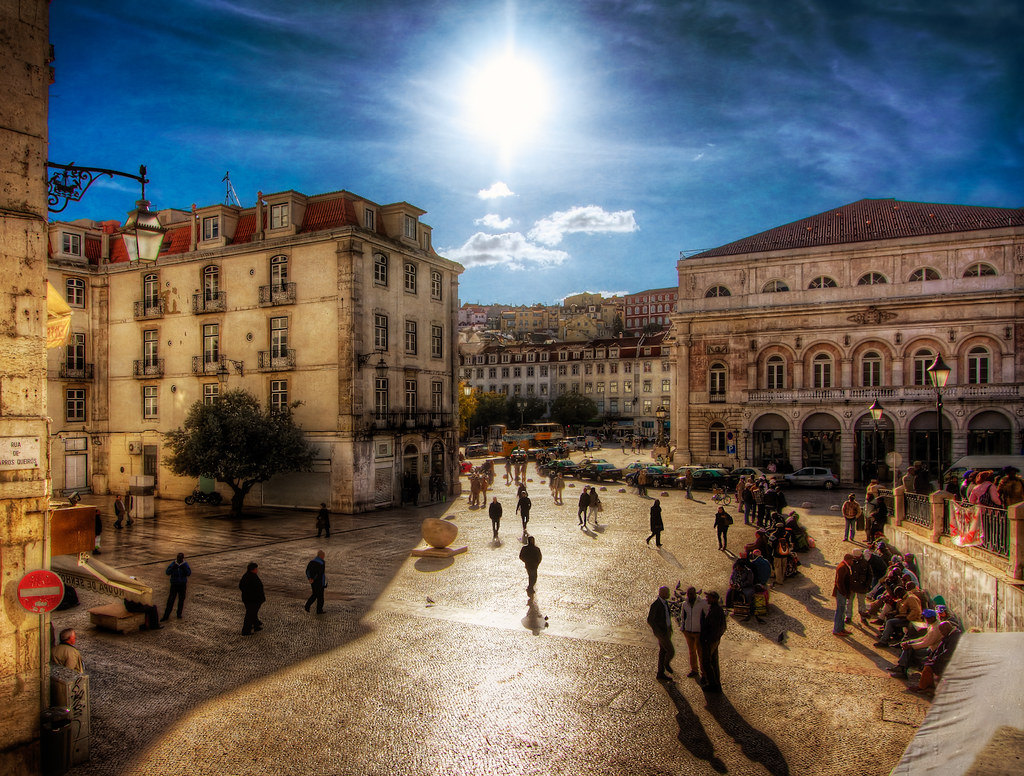 Downtown Lisbon  I had fun working on this photo as it gav  Flickr