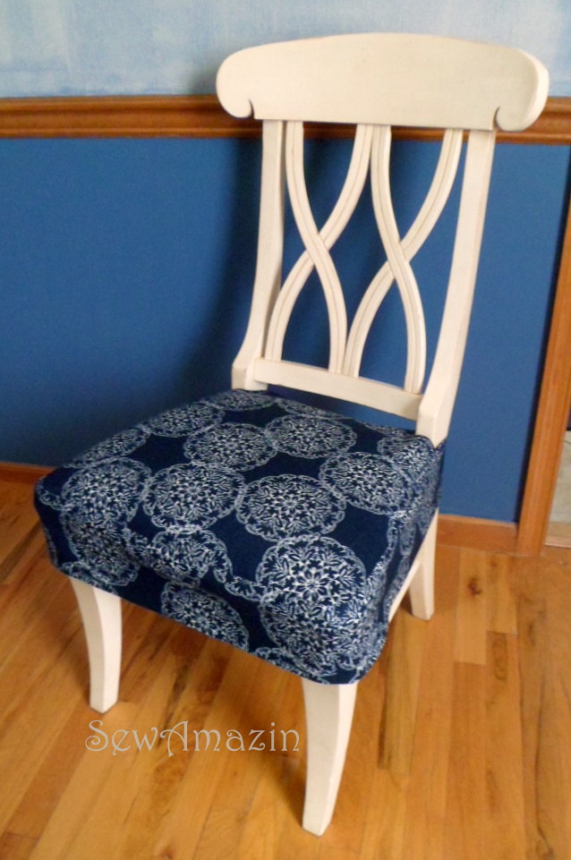 DiningKitchen Chair Seat Cover  Front angled view