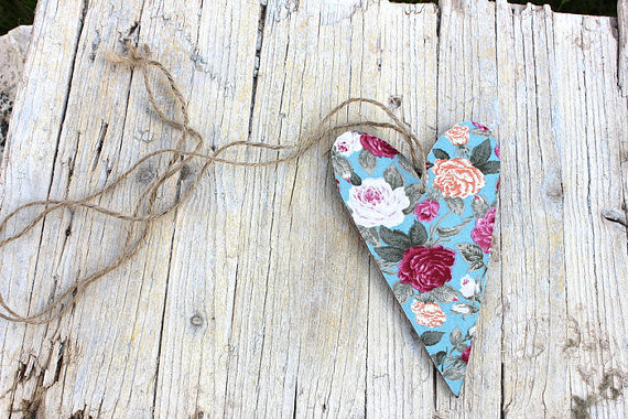 FLORAL HEART  Wedding Wooden Heart  Rustic Bohemian deco  Flickr