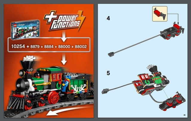 Notice Power Functions - REVIEW LEGO 10254 Winter Holiday Train