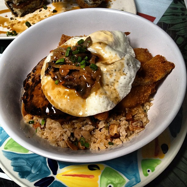 Loco Moco with Katsu at Da Kitchen hawaii hi dakitchen