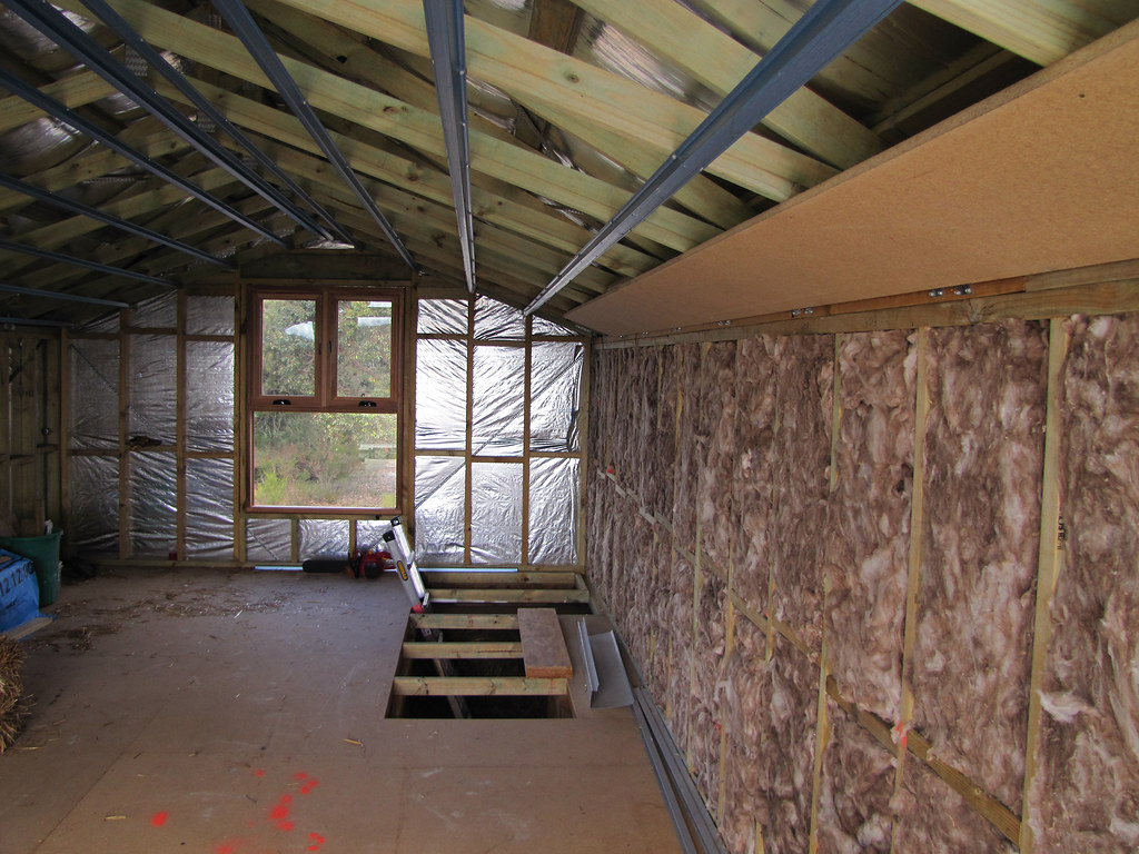 Attic Window and Insulation  Strawbale House Build in Red  Flickr