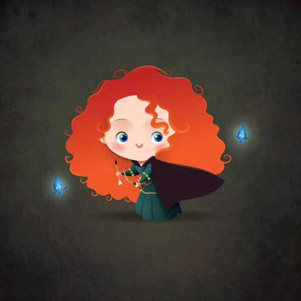 Kawaii Merida - Brave Pixar' Princess
