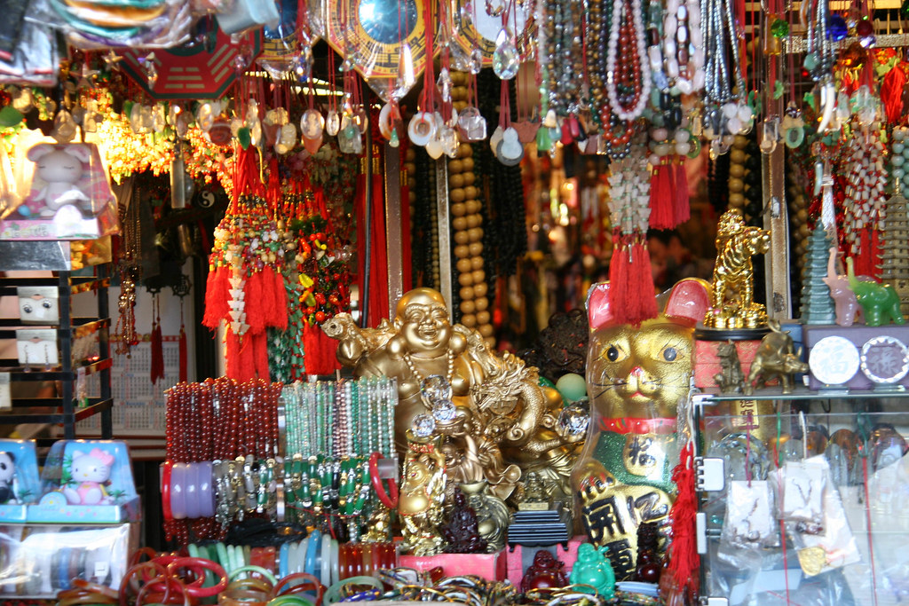 Gold And Red Knick Knacks Lots Of Interesting Jewelry
