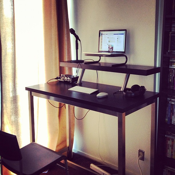 And The Homemade Standing Desk Is Complete  Ryan Mason