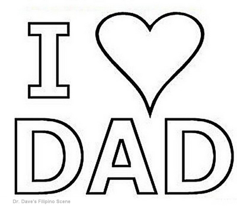 I Love Daddy Coloring Pages - Arenda-stroy