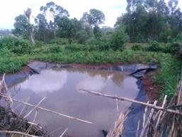 Water harvesting pond in Lemo (photo credit: ILRI/Z.Lema)
