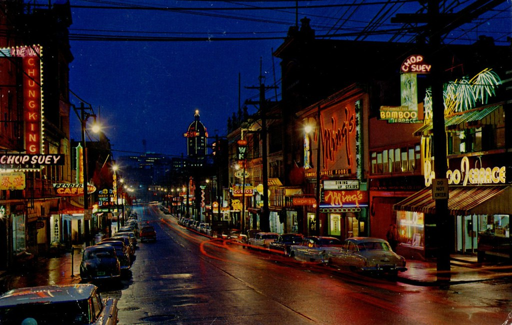Postcard Vancouvers Chinatown 1960  CHINATOWN AT