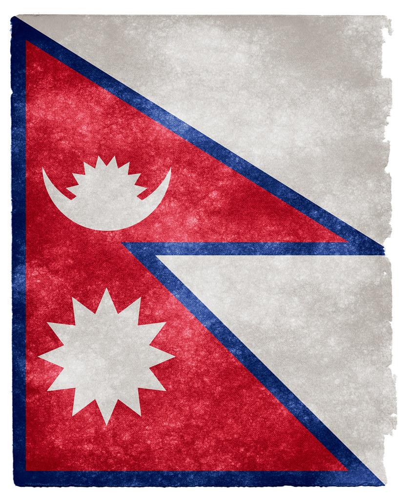 Nepal Grunge Flag  Grunge textured flag of Nepal on