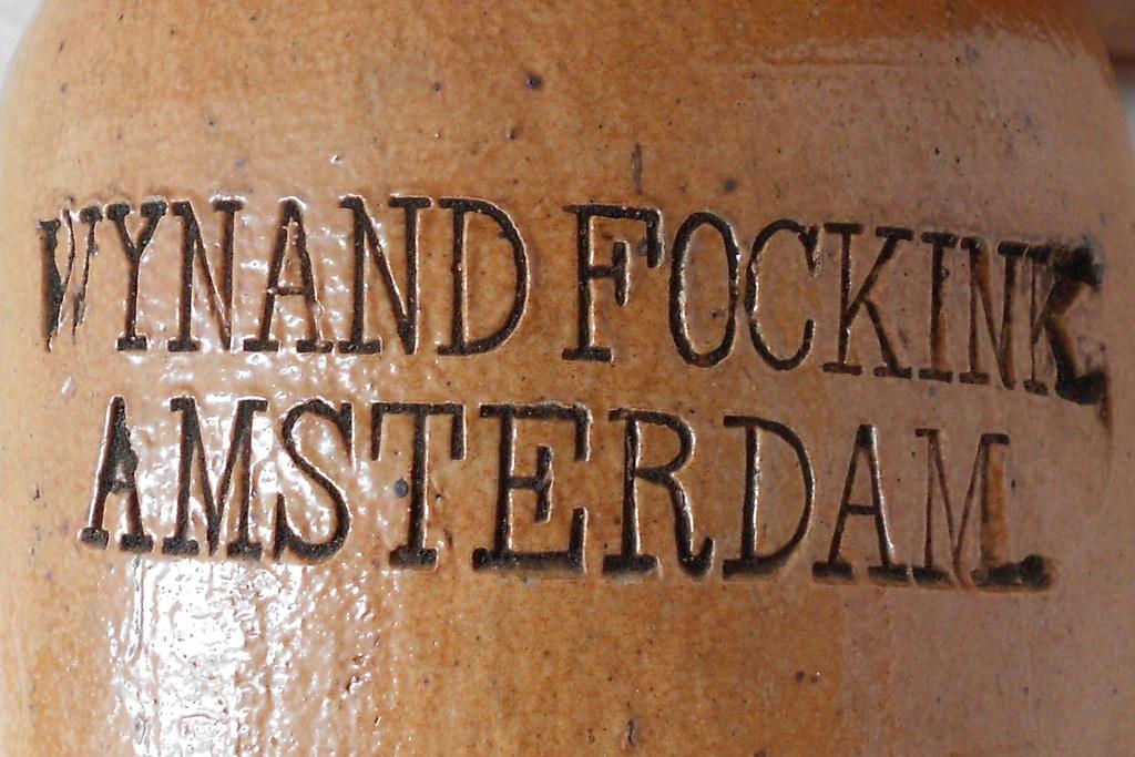 76 German stoneware Dutch stone gin bottle Wynand Fockink