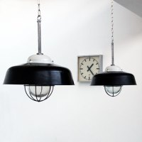 Vintage Industrial Lamp shades, Bauhaus | Industrial lamps ...