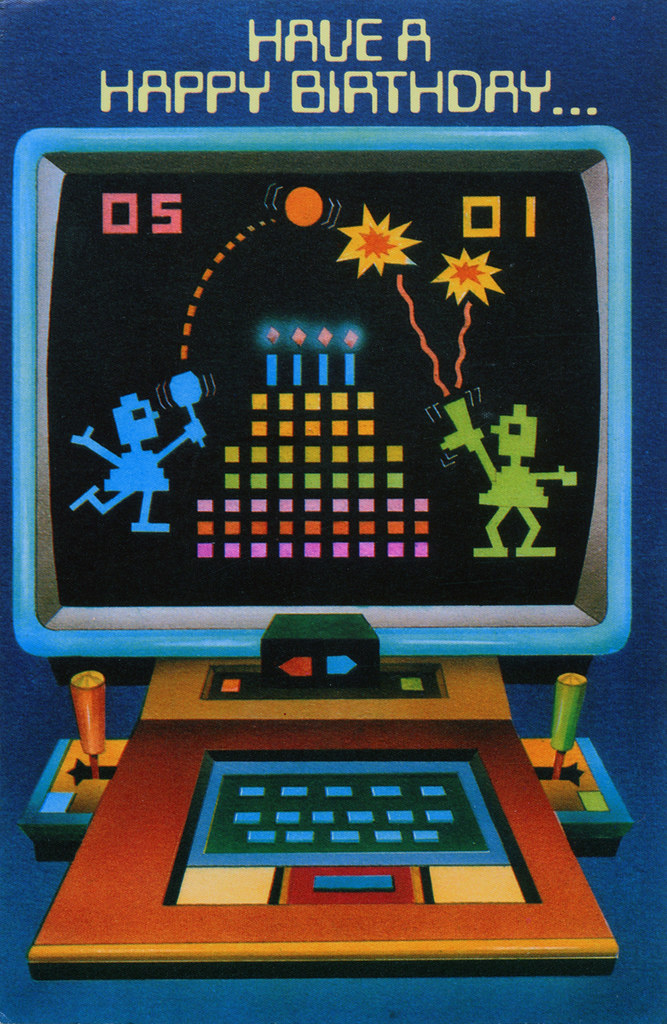 Video Game Birthday Card 1983 Inside The Card It Reads