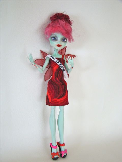 Miss Argentina Beetlejuice  Monster High commissioned