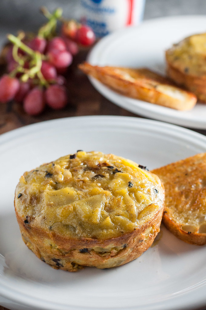 A classic Spanish tapas dish, the potato tortilla (or omelet), made easy!