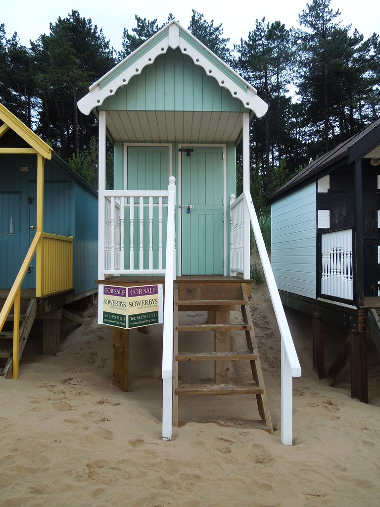 Beach Hut For Sale  One of the beach huts for sale at