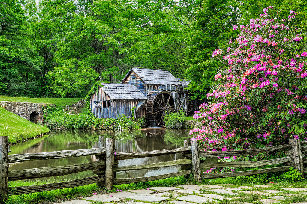 Mabry Mill  The Mill is located at milepost 1762 of Blue R  Flickr