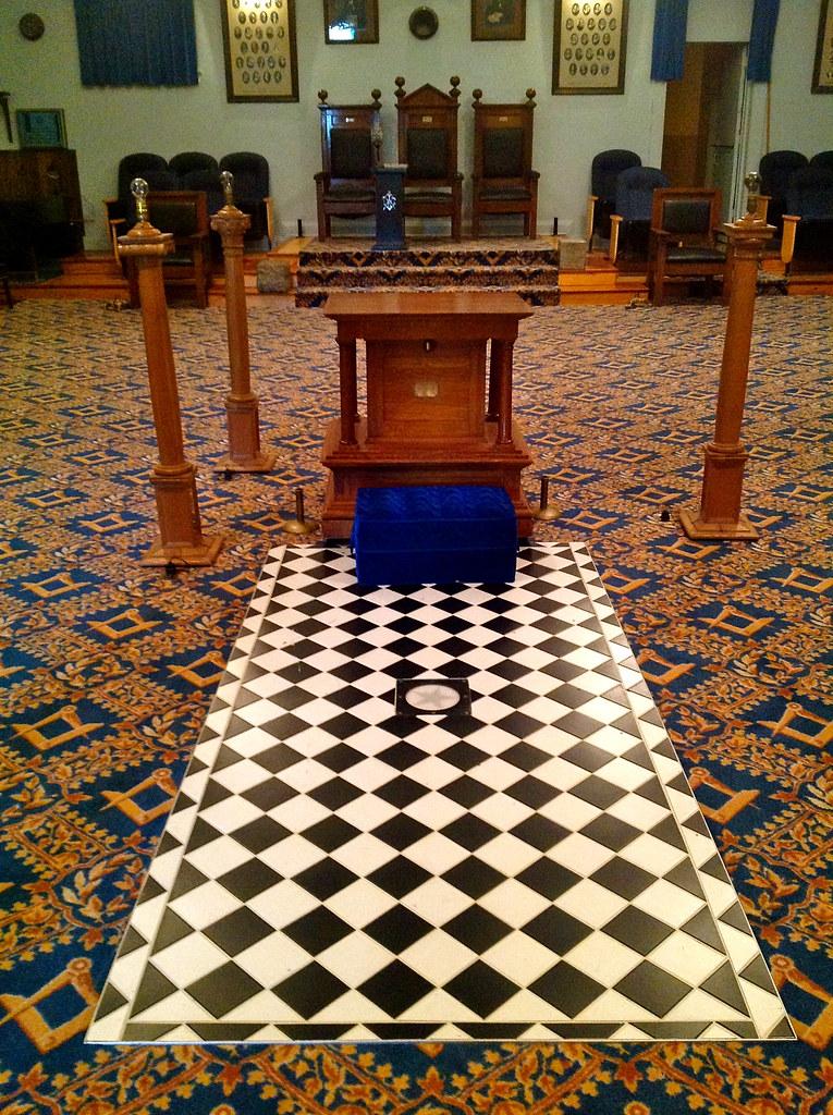 Weston Masonic Building 27 Mosaic Pavement and Indented
